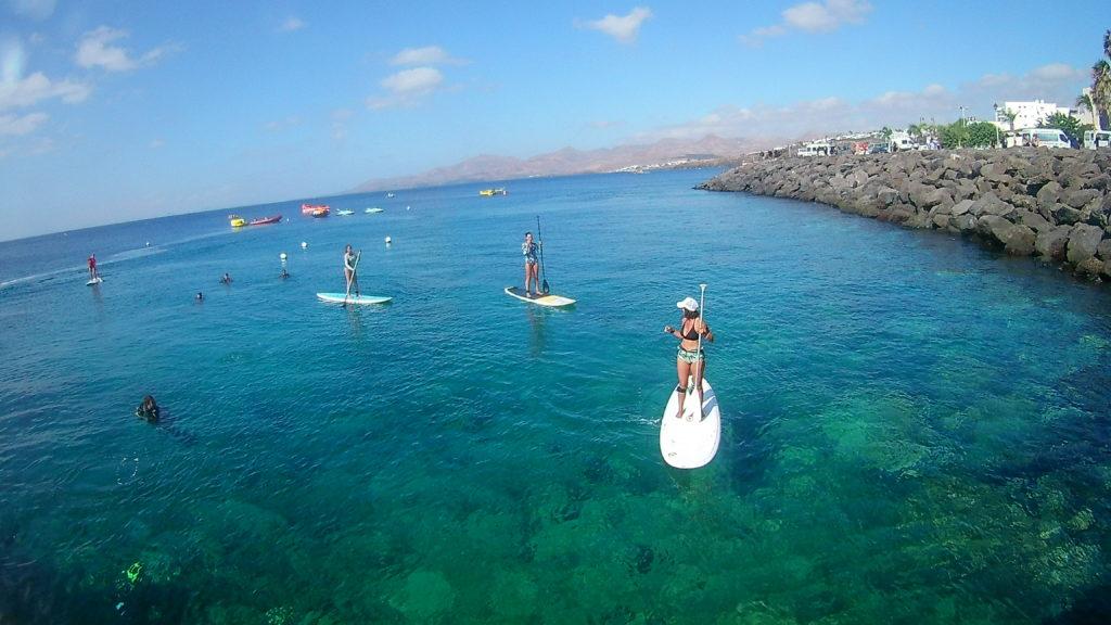 Paddle surf en lanzarote puerto del carmen